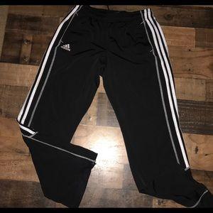 Adidas men's black white small track pants